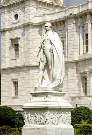 Statues at Victoria Memorial monument,Calcutta now Kolkata,West Bengal,India