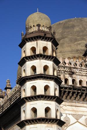 Minar of Gol Gumbaz,Bijapur,Karnataka,India