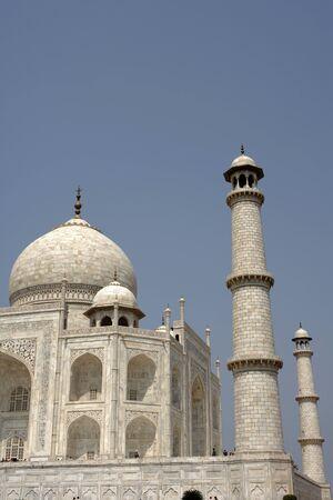 Minaret of Taj Mahal Seventh Wonders of World,Agra,Uttar Pradesh,India UNESCO World Heritage Site