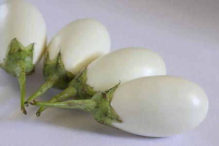 Vegetable,Four White Brinjal,Baingan,Aubergines,Eggplant,India