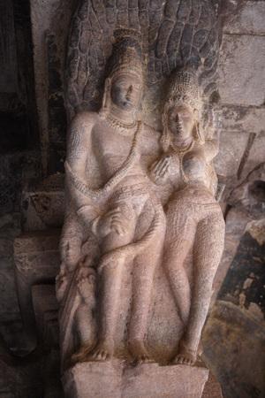 Badami,Chalukya,Cave 3,575 A.D. - 585 A.D.,Dedicated To Vishnu,UNESCO World Heritage Site,Bagalkot,Karnataka,India Stock Photo