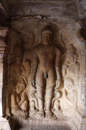 Badami,Chalukya,Cave 4,575 A.D. - 585 A.D.,Dedicated to Jaina,Gommateshvara,son of first Tirthankara,UNESCO World Heritage Site,Bagalkot,Karnataka,India