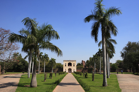 Bu Halima gate led to the tomb-garden of Bu Halima in Humayuns tomb complex,Delhi,India UNESCO World Heritage Site Heritage Site