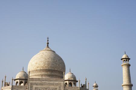 Dome view of Taj Mahal Seventh Wonders of World,Agra,Uttar Pradesh,India UNESCO World Heritage Site