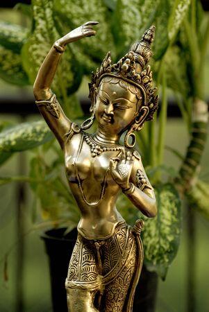 Brass statue of Thai goddess showpiece,Maharashtra,India