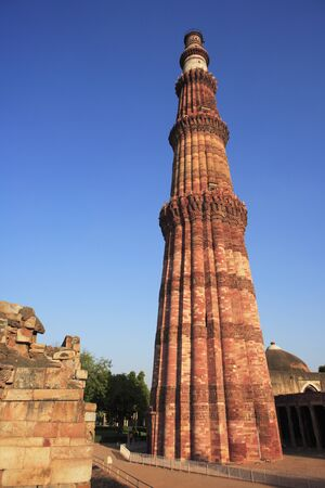 c42776e0c248 Qutab Minar built in 1311 red sandstone tower
