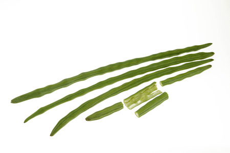 Vegetable,Drumsticks on white background