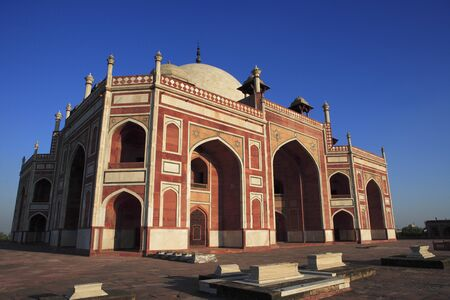 Humayuns tomb built in 1570,Delhi,India UNESCO World Heritage Site Stock Photo