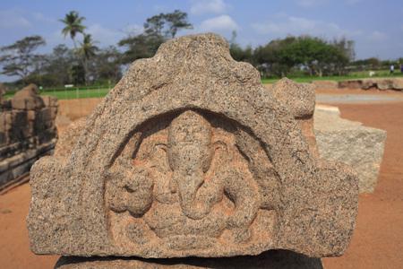 pallava: Lord Ganesha statue at Shore temple complex,Mahabalipuram,District Chengalpattu,Tamil Nadu,India UNESCO World Heritage Site LANG_EVOIMAGES