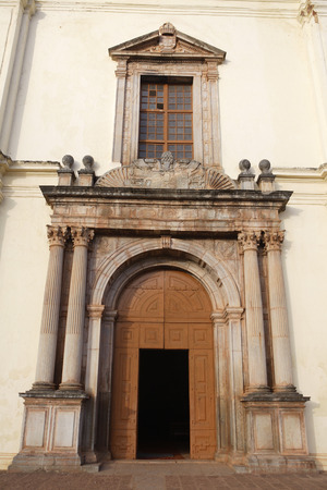 Entrance Door,Se Cathedral,church built in,8 A.D.,UNESCO World Heritage Site,Old Goa,Velha Goa,India Stock Photo