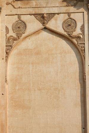 Decorative wall of Gol Gumbaz,Bijapur,Karnataka,India