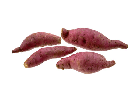 Vegetable,Five Sweet Potato on white background Banque d'images
