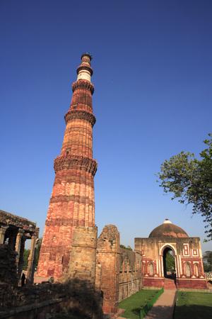 5edd7ec0c5ae Qutab Minar and Alai Darwaza built in 1311 red sandstone tower