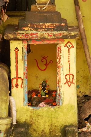 Kumartuli Siva temple Lingam at Calcutta,West Bengal,India