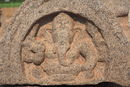 figurines: Lord Ganesha statue at Shore temple complex,Mahabalipuram,District Chengalpattu,Tamil Nadu,India UNESCO World Heritage Site LANG_EVOIMAGES