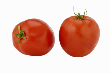 Vegetable,Tomatoes Pair on white background