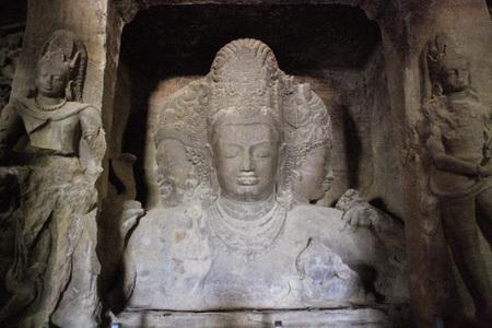 Shiva shakti  mahadeva of elephanta caves,Elephanta caves,world heritage site,Bombay Mumbai,Maharashtra,India