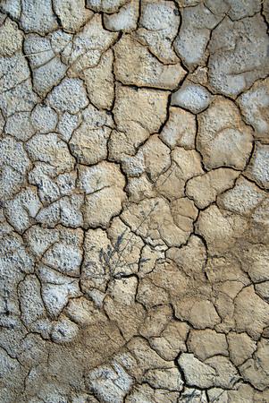 Barsten, textuur van droog land, Kutch, Gujarat, India Stockfoto - 85741607