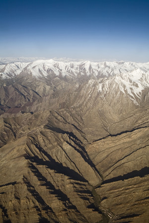 Aerial view of snow covered Himalayan mountains,Ladakh,Jammu and Kashmir,India Stock fotó