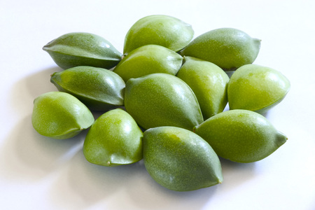 Fruitone Dozen Green Eye Shaped Almond Badam Prunus Dulcis On
