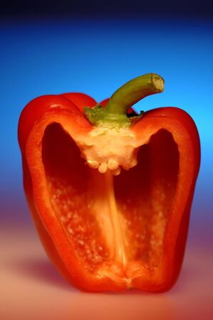 Vegetable,red capsicum used in salad,India Stock Photo
