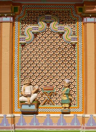 Decorative window of Jain temple of Jhakhuau,Jhakhau,Kutch,Gujarat,India