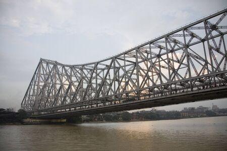Howrah Bridge now Rabindra Setu over River Hooghly,Calcutta Kolkata,West Bengal,India