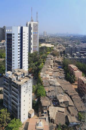 Aerial view of Parel Suburb,Bombay Mumbai,Maharashtra,India