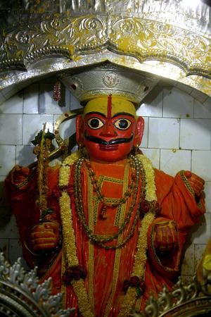 Statue of lord khandoba in the Jejuri temple,pune,Maharashtra,India
