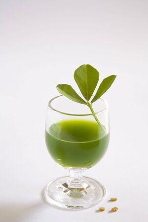 Vegetable,fenugreek Juice,methi ka rus,India Stock Photo