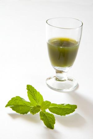 Green spices mint juice,pudina Ka rus,India