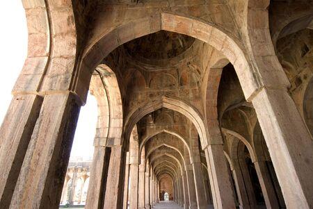 Huge pillar arches in Jami Masjid at Mandu,Madhya Pradesh,India