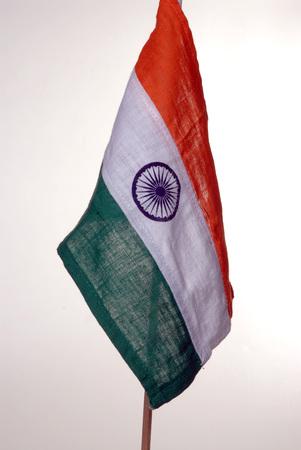 Indian flag on white background