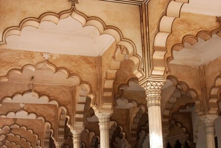Mehrabs of darbar hall,red fort,Agra,Uttar Pradesh,India