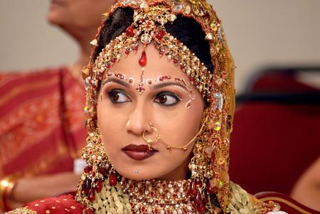 Indian Bridal Makeup Stock Photos And Images - 123RF