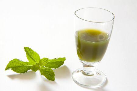 perishable: Green spices mint juice,pudina Ka rus,India