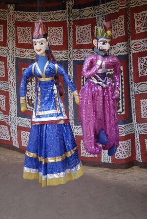 puppets: Puppets hanging at Shilpgram,Udaipur,Rajasthan,India
