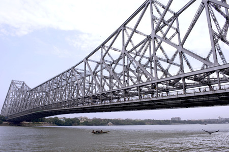 Howrah bride largest cantilever bridge over Hooghly river,Calcutta,West Bengal,India
