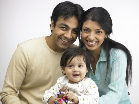 Indian parent with baby girl  Stock Photo