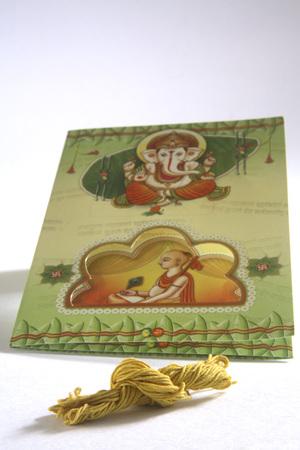Concept,upanayan nimantran patra invitation card of thread ceremony