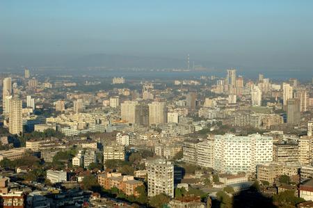 Aerial view of central Mumbai city building,Bombay Mumbai,Maharashtra,India