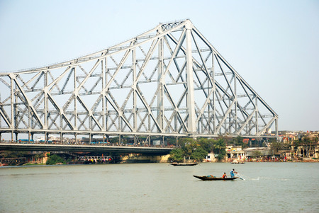 Howrah bridge over Hooghly river,Calcutta,West Bengal,India