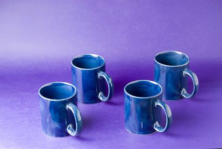 Four cup with violet background