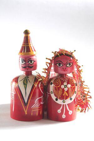 showpiece: Concept,atut bandhan showpiece of wooden bride and bridegroom gift item