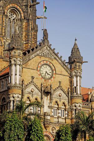 Victoria Terminus (VT) named Chhatrapati Shivaji Terminus Station (CST),Bombay Mumbai,Maharashtra,India