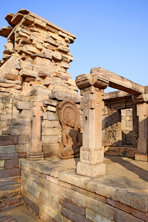 Temple 31 near stupa 5 built during 6th or 7th century rectangular temples of Buddha,Sanchi near Bhopal,Madhya Pradesh,India LANG_EVOIMAGES