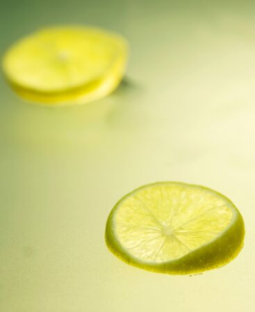 acetic: Fruits,Two slice of Lemon
