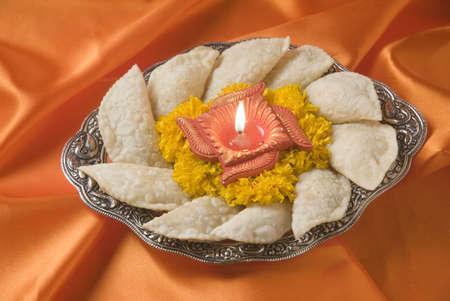 perishable: Karanji a sweet cake-like stuffed eatable during Diwali deepawali festival,India LANG_EVOIMAGES