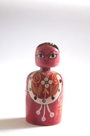 showpiece: Concept,single sole showpiece of wooden lady gift item