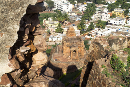 Mallegitti Shivalaya Temple in North Fort in Badami,Karnataka,India